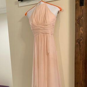Blush color bridesmaid/forms dress